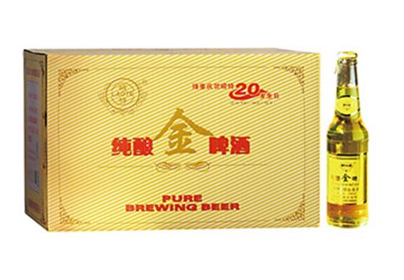 纯酿金啤酒24瓶装